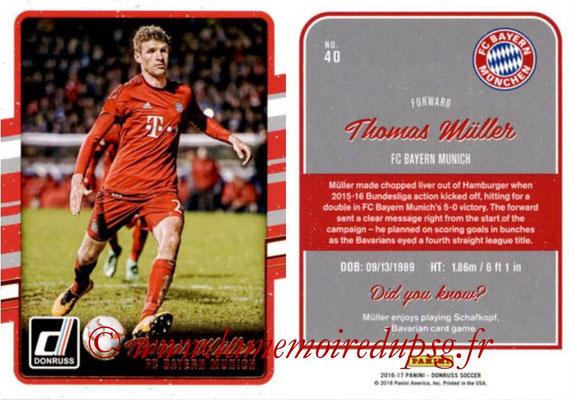 2016 - Panini Donruss Cards - N° 040 - Thomas MÜLLER (FC Bayern Munich)