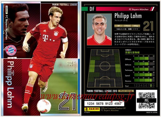 Panini Football League 2013 - PFL03 - N° 139 - Philipp Lahm (Bayern Munich) (Bandiera)