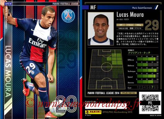 Panini Football League 2014 - PFL06 - N° 168 - LUCAS Moura (Paris Saint-Germain) (Super MF)