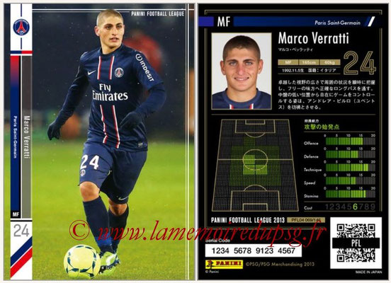Panini Football League 2013 - PFL04 - N° 069 - Marco VERRATTI (Paris Saint-Germain)