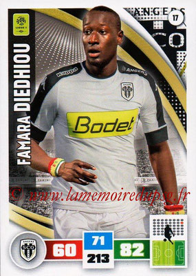 2016-17 - Panini Adrenalyn XL Ligue 1 - N° 017 - Famara DIEDHIOU (Angers)