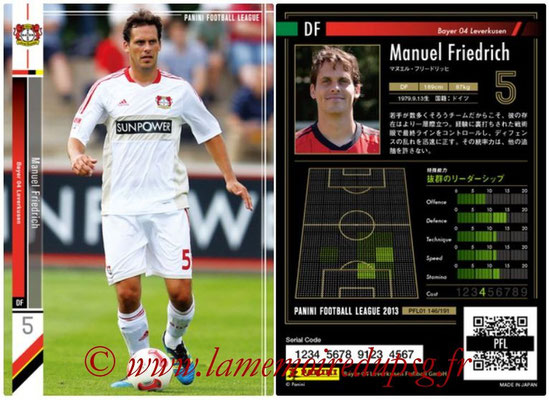 Panini Football League 2013 - PFL01 - N° 146 - Manuel Friedrich ( Bayer 04 Leverkusen )