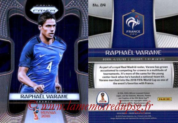 2018 - Panini Prizm FIFA World Cup Russia - N° 084 - Raphaël VARANE (France)