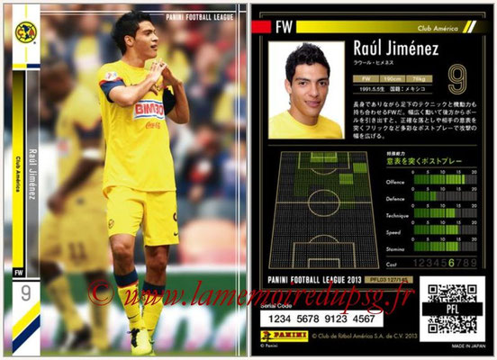 Panini Football League 2013 - PFL03 - N° 127 - Raul Jimenez (CPanini Football League 2013 - PFL03 - N° 127 - Raul Jimenez (Club America)lub America)