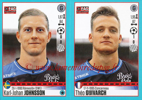 2016-17 - Panini Ligue 1 Stickers - N° 230 + 231 - Karl-Johan JOHNSSON (Guingamp)