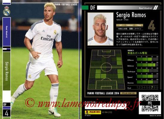 Panini Football League 2014 - PFL06 - N° 038 - Sergio RAMOS (Real Madrid CF)