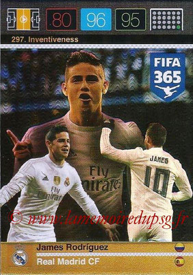 2015-16 - Panini Adrenalyn XL FIFA 365 - N° 297 - James RODRIGUEZ (Real Madrid CF) (Inventiveness)
