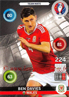 Panini Euro 2016 Cards - N° 447 - Ben DAVIES (Pays de Galles)