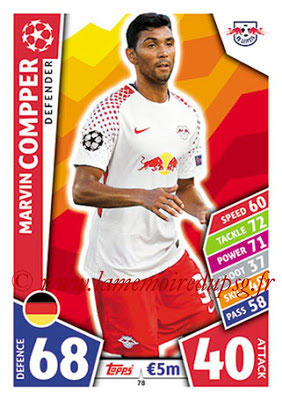 2017-18 - Topps UEFA Champions League Match Attax - N° 078 - Marvin COMPPER (RB Leipzig)