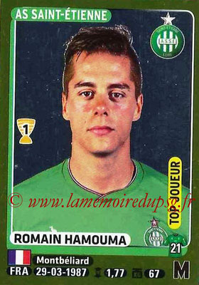 2015-16 - Panini Ligue 1 Stickers - N° 415 - Romain HAMOUMA (AS Saint-Etienne) (Top Joueur)