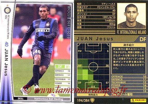 2012-13 - WCCF - N° 194 - Jesus JUAN (Inter Milan)