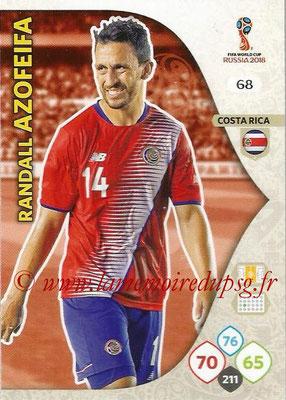 2018 - Panini FIFA World Cup Russia Adrenalyn XL - N° 068 - Randall AZOFEIFA (Costa Rica)