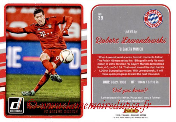 2016 - Panini Donruss Cards - N° 039 - Robert LEWANDOWSKI (FC Bayern Munich)