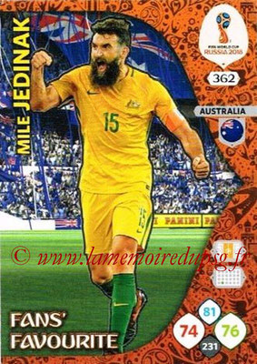 2018 - Panini FIFA World Cup Russia Adrenalyn XL - N° 362 - Mile JEDINAK (Australie) (Fans' Favourite)