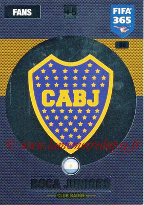 2016-17 - Panini Adrenalyn XL FIFA 365 - N° 086 - Logo CA Boca Junior (Club Badge)