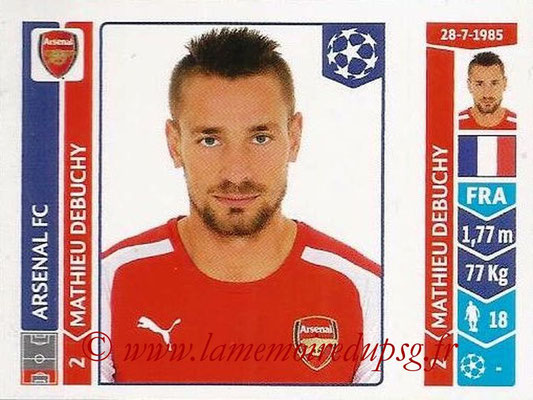 2014-15 - Panini Champions League N° 254 - Mathieu DEBUCHY (Arsenal FC)