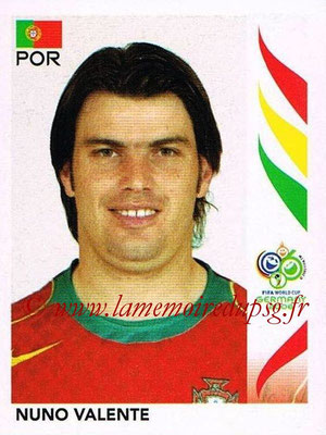 2006 - Panini FIFA World Cup Germany Stickers - N° 288 - Nuno VALENTE (Portugal)