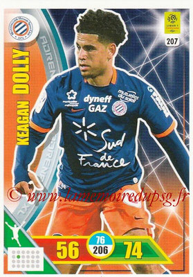 2017-18 - Panini Adrenalyn XL Ligue 1 - N° 207 - Keagan DOLLY (Montpellier)