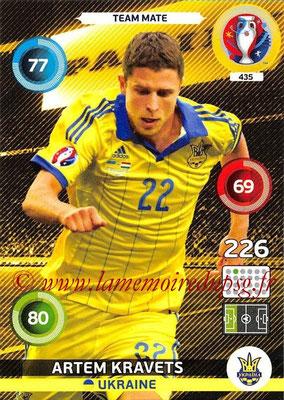Panini Euro 2016 Cards - N° 435 - Artem KRAVETS (Ukraine)