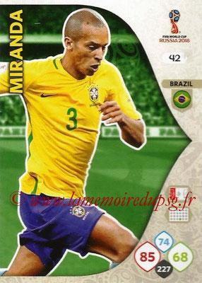 2018 - Panini FIFA World Cup Russia Adrenalyn XL - N° 042 - MIRANDA (Brésil)