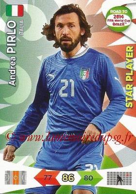 2014 - Panini Road to FIFA World Cup Brazil Adrenalyn XL - N° 125 - Andrea PIRLO (Italie) (Star Player)