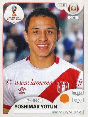 2018 - Panini FIFA World Cup Russia Stickers - N° 245 - Yoshimar YOTUN (Pérou)