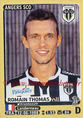 2015-16 - Panini Ligue 1 Stickers - N° 034 - Romain THOMAS (SCO Angers)