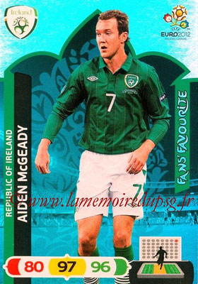 Panini Euro 2012 Cards Adrenalyn XL - N° 269 - Aiden McGEADY (Eire) (Fans' Favourite)
