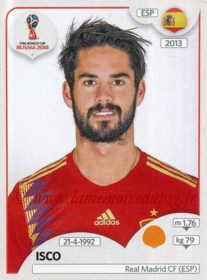 2018 - Panini FIFA World Cup Russia Stickers - N° 143 - ISCO (Espagne)