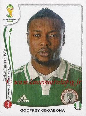 2014 - Panini FIFA World Cup Brazil Stickers - N° 474 - Godfrey OBOABONA (Nigéria)
