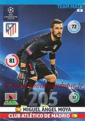 2014-15 - Adrenalyn XL champions League N° 055 - Miguel Angel MOYA (Atletico Madrid)