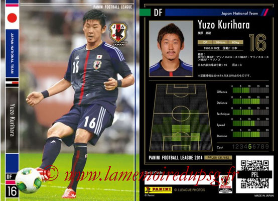 Panini Football League 2014 - PFL06 - N° 131 - Yuzo KURIHARA (Japon)