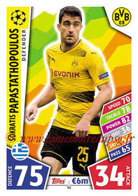 2017-18 - Topps UEFA Champions League Match Attax - N° 095 - Sokratis PAPASTATHOPOULOS (Borussia Dortmund)