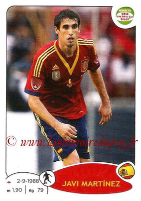 2014 - Panini Road to FIFA World Cup Brazil Stickers - N° 133 - Javi MARTINEZ (Espagne)
