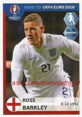 Panini Road to Euro 2016 Stickers - N° 075 - Ross BARKLEY (Angleterre)
