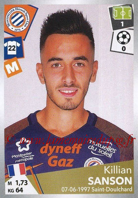 2017-18 - Panini Ligue 1 Stickers - N° 298 - Killian SANSON (Montpellier)