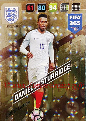 2017-18 - Panini FIFA 365 Cards - N° LE-DS - Daniel STURRIDGE (Angleterre) (Limited Edition)