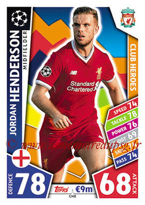 2017-18 - Topps UEFA Champions League Match Attax - N° CH08 - Jordan HENDERSON (Liverpool FC) (Club Heroes)