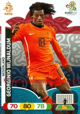 Panini Euro 2012 Cards Adrenalyn XL - N° 144 - Georginio WIJNALDUM (Pays-Bas)