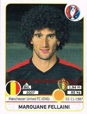 Panini Euro 2016 Stickers - N° 474 - Marouane FELLAINI (Belgique)