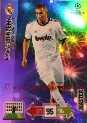 2012-13 - Adrenalyn XL champions League N° 344 - Karim BENZEMA (Real Madrid CF) (Master
