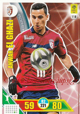 2017-18 - Panini Adrenalyn XL Ligue 1 - N° 118 - Anwar EL GHAZI (Lille)