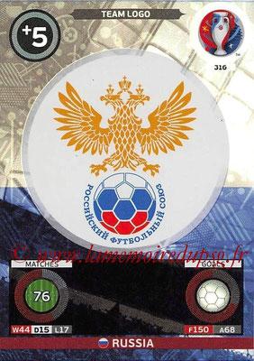 Panini Euro 2016 Cards - N° 316 - Logo de Russie (Team Logo)