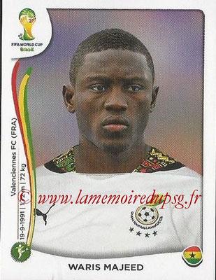 2014 - Panini FIFA World Cup Brazil Stickers - N° 540 - Waris MAJEED (Ghana)