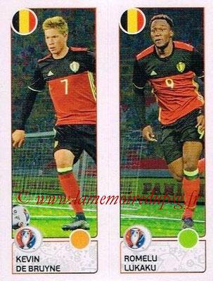 Panini Euro 2016 Stickers - N° 490 - Kevin DE BRUYNE + Romelu LUKAKU (Belgique)