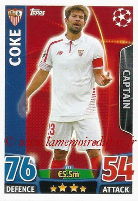 2015-16 - Topps UEFA Champions League Match Attax - N° 272 - COKE (FC Seville) (Captain)
