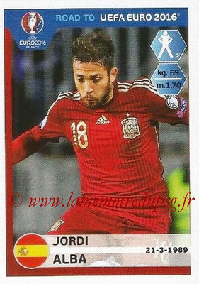 Panini Road to Euro 2016 Stickers - N° 085 - Jordi ALBA (Espagne)