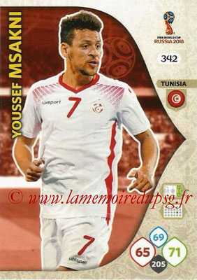 2018 - Panini FIFA World Cup Russia Adrenalyn XL - N° 342 - Youssef MSAKNI (Tunisie)