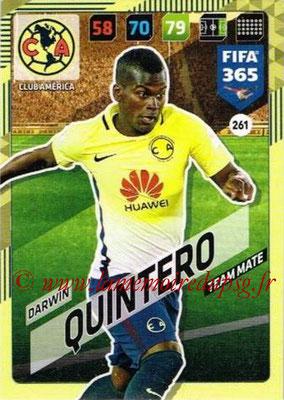2017-18 - Panini FIFA 365 Cards - N° 261 - Darwin QUINTERO (Club America)