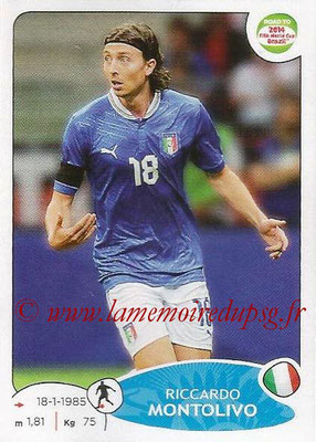 2014 - Panini Road to FIFA World Cup Brazil Stickers - N° 028 - Riccardo MONTOLIVO (Italie)